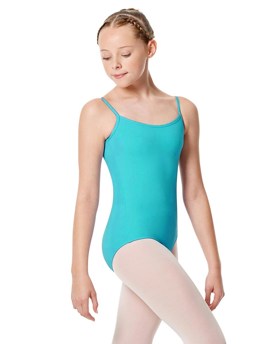 Girls Camisole Leotard Chantal AQUA BLUE