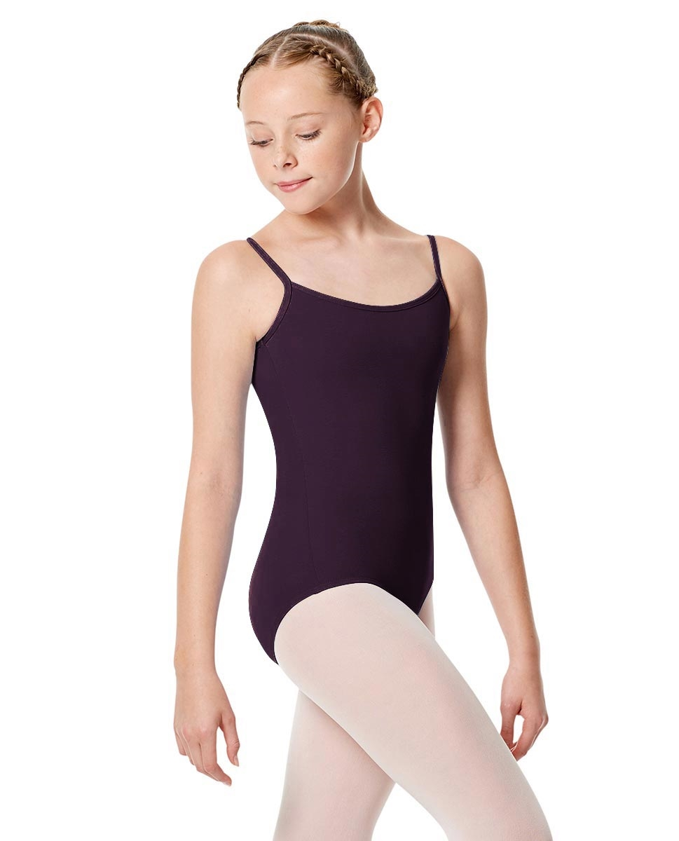 Girls Camisole Leotard Chantal AUBERGINE