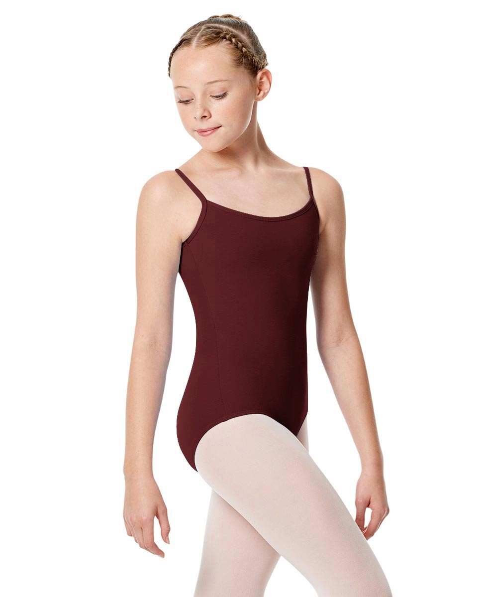 Girls Camisole Leotard Chantal BURGUNDY