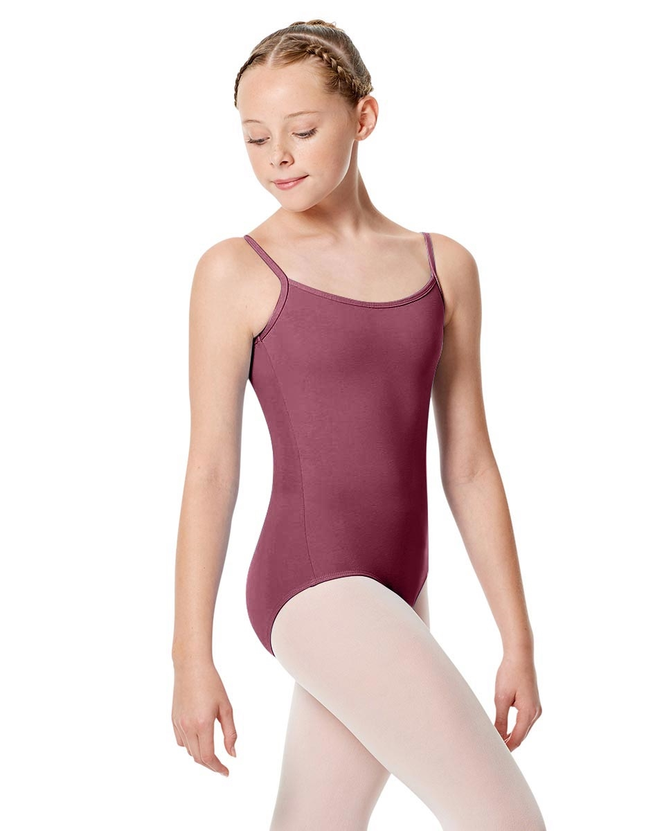 Girls Camisole Leotard Chantal DUSTY ROSE