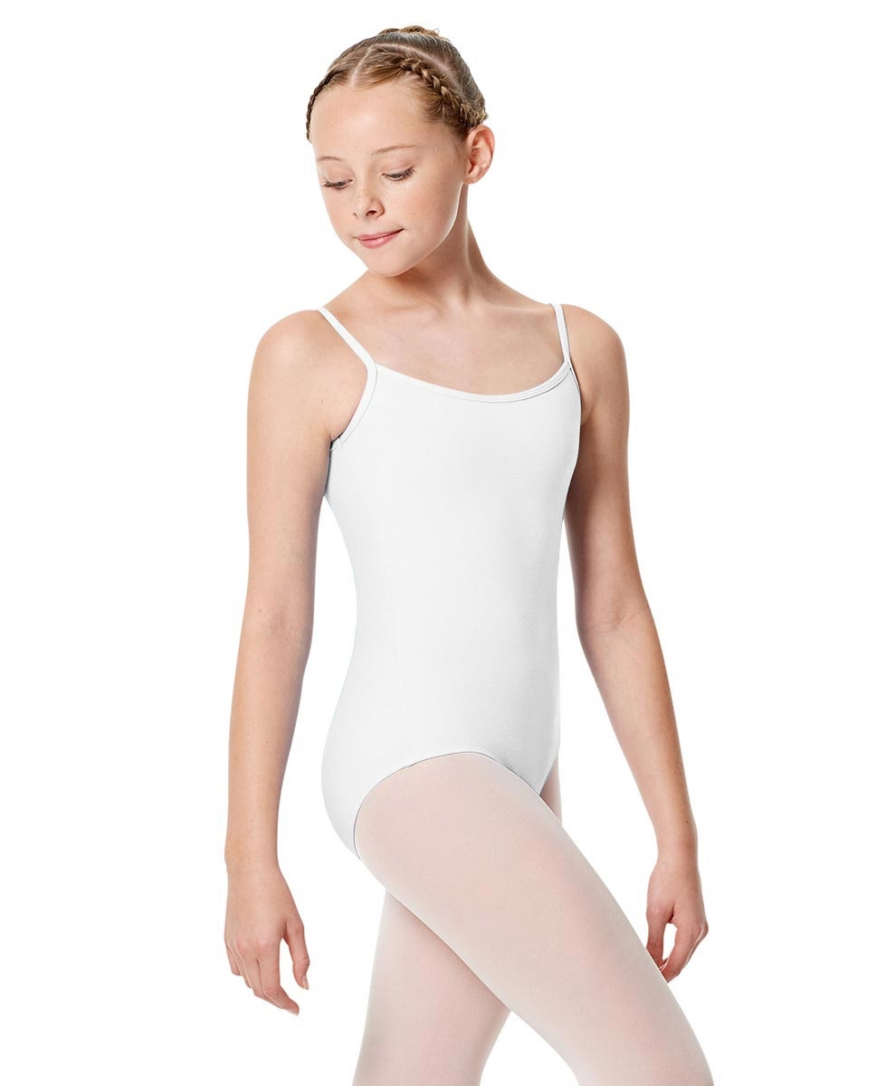 Girls Camisole Leotard Chantal WHITE