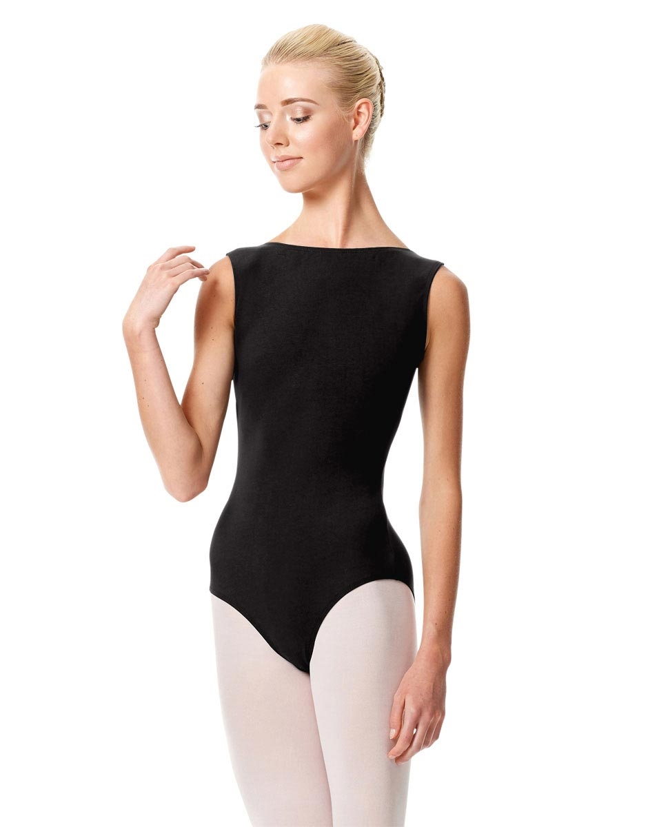 High Neckline Tank Leotard Olimpia BLACK