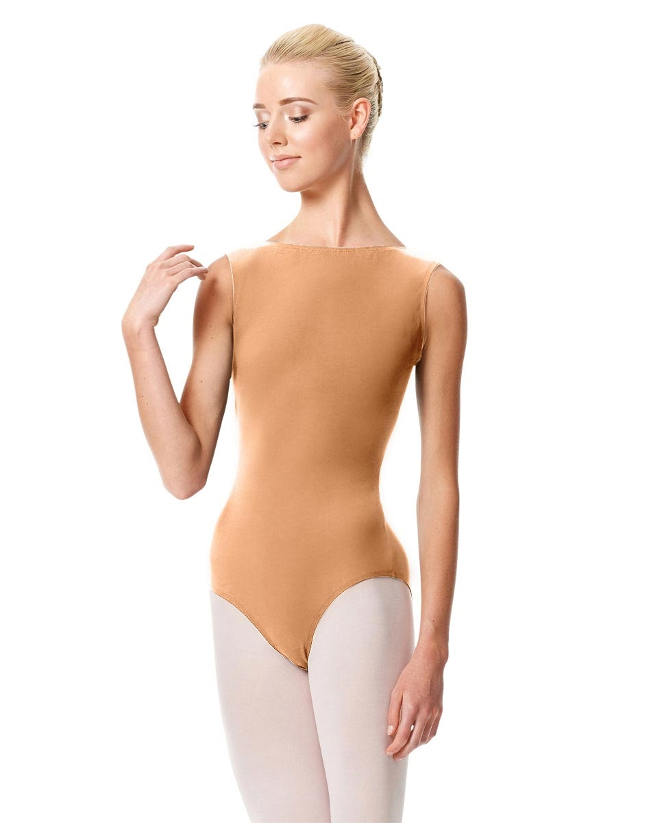 High Neckline Tank Leotard Olimpia DARK NUDE
