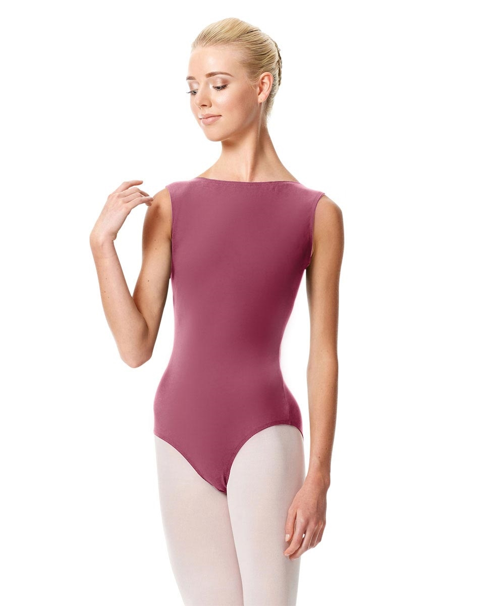 High Neckline Tank Leotard Olimpia DUSTY ROSE