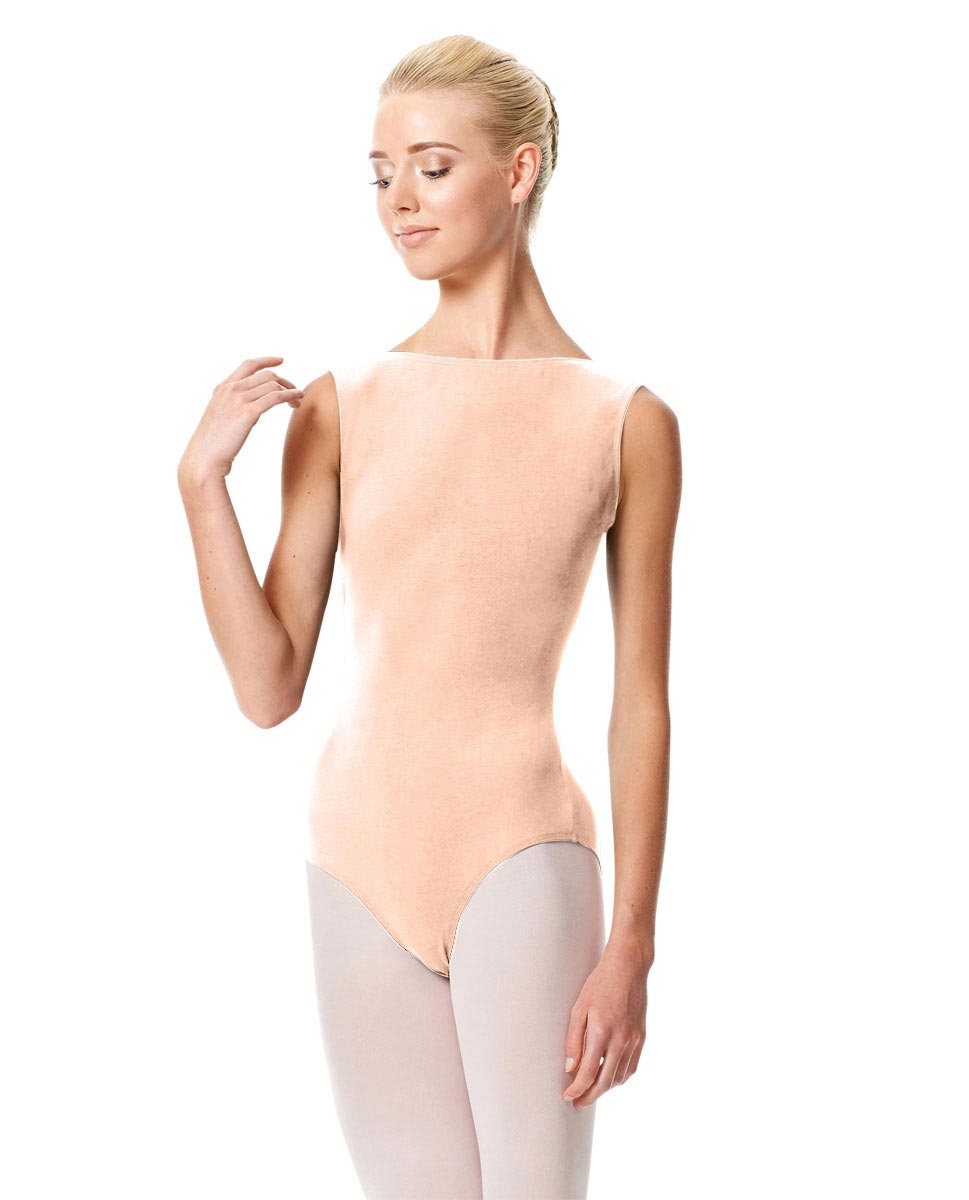High Neckline Tank Leotard Olimpia LIGHT NUDE