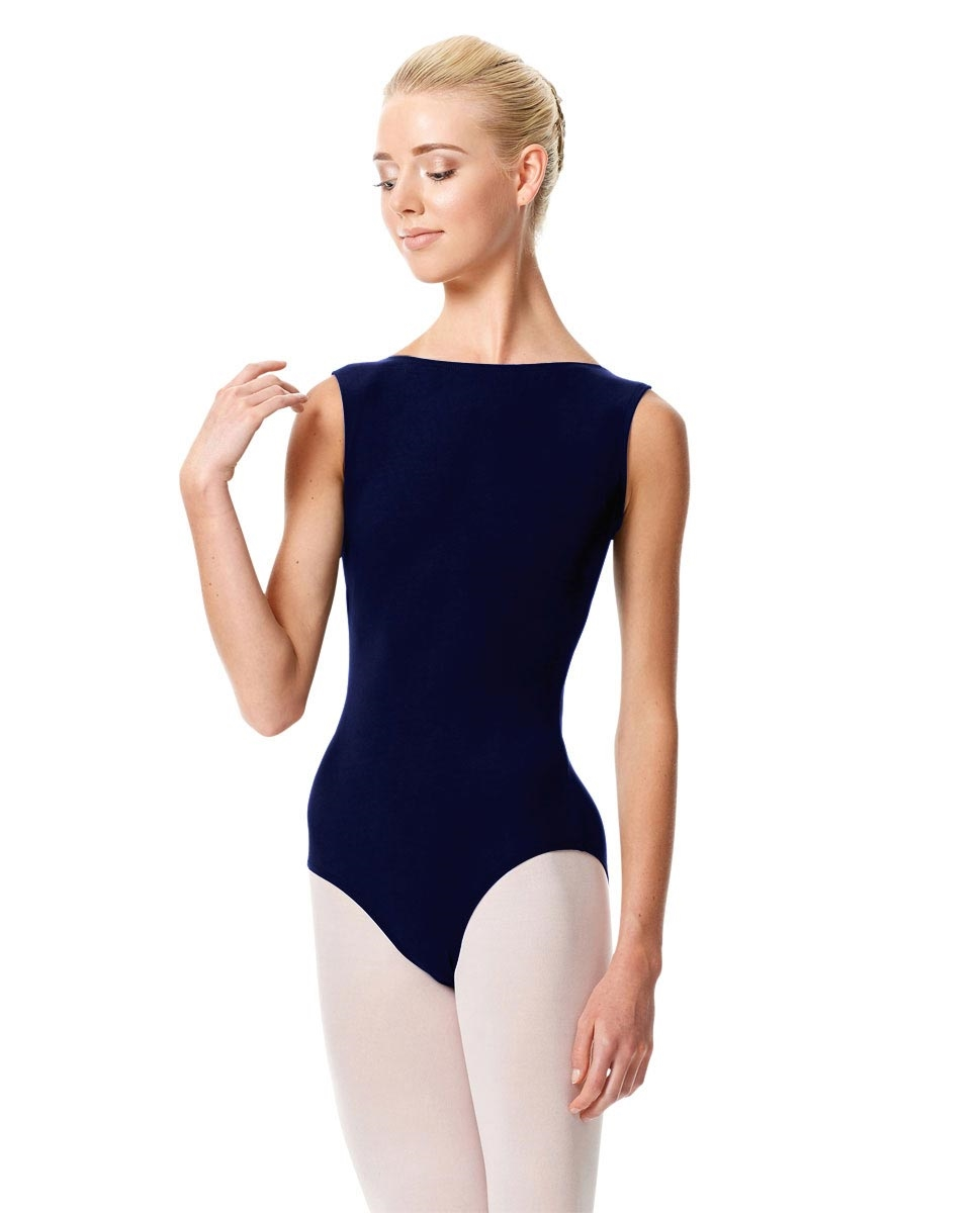 High Neckline Tank Leotard Olimpia NAVY