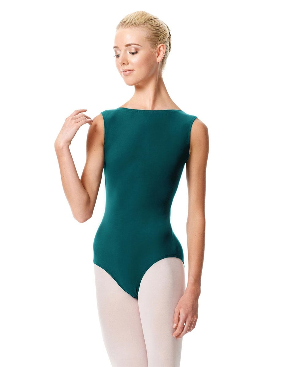 High Neckline Tank Leotard Olimpia TEAL