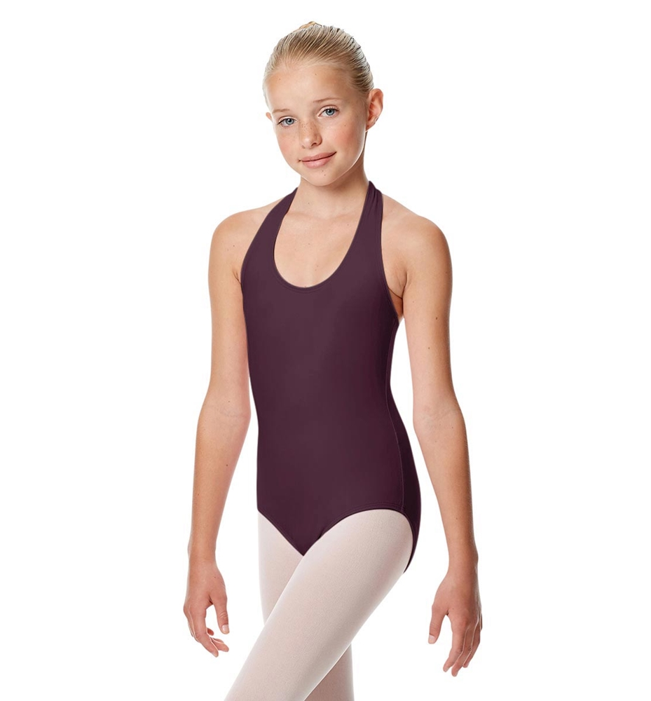 Girls Halter Dance Leotard Tamara AUBERGINE