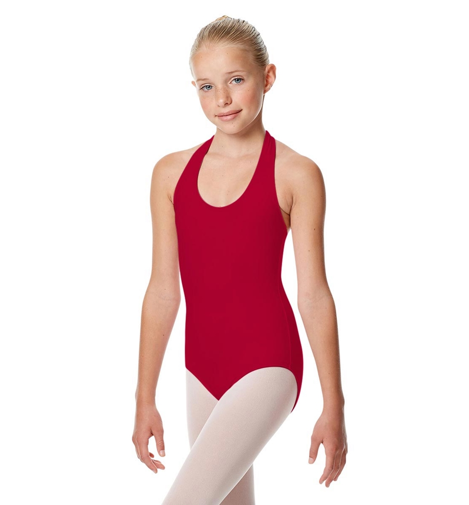 Girls Halter Dance Leotard Tamara DARK RED