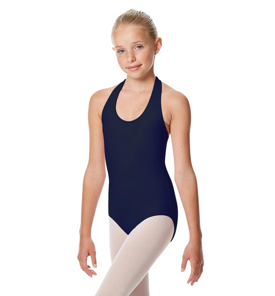 Girls Halter Dance Leotard Tamara NAVY