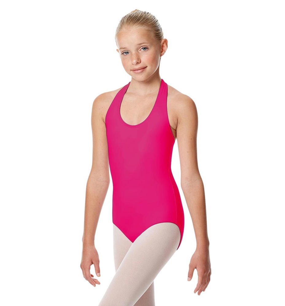 Girls Halter Dance Leotard Tamara RASPBERRY