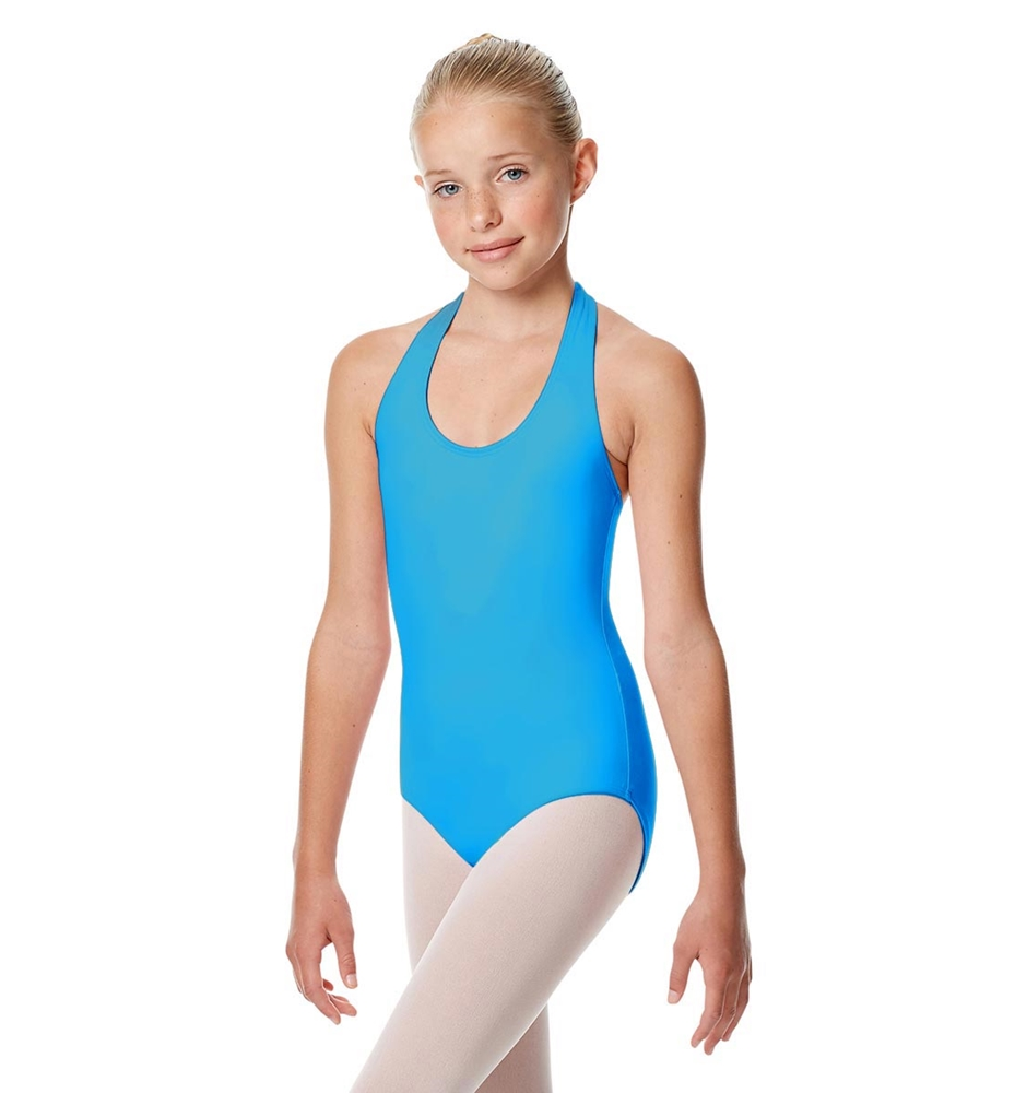 Girls Halter Dance Leotard Tamara TURQUOISE