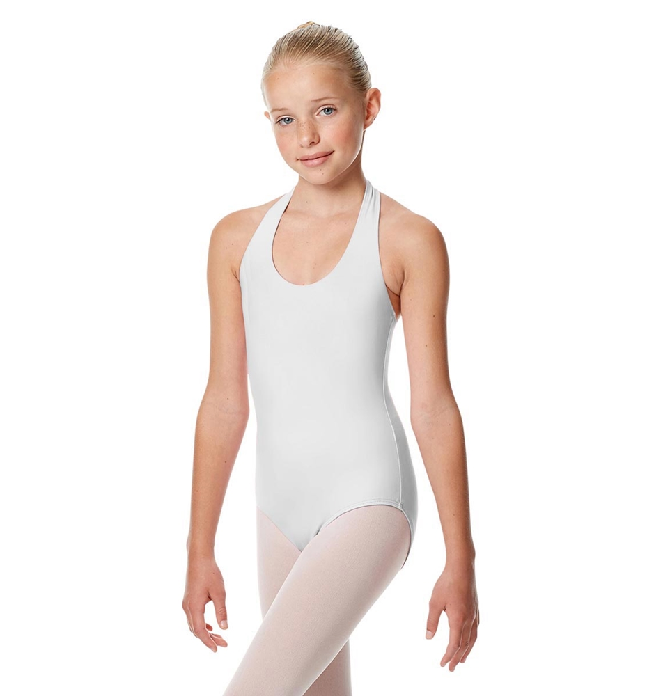 Girls Halter Dance Leotard Tamara WHITE