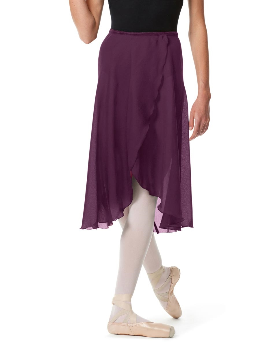 Knee Length Georgette Ballet Skirt Renee AUBERGINE