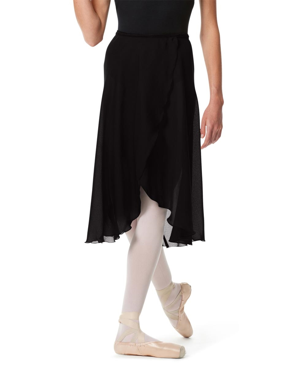 Knee Length Georgette Ballet Skirt Renee BLACK
