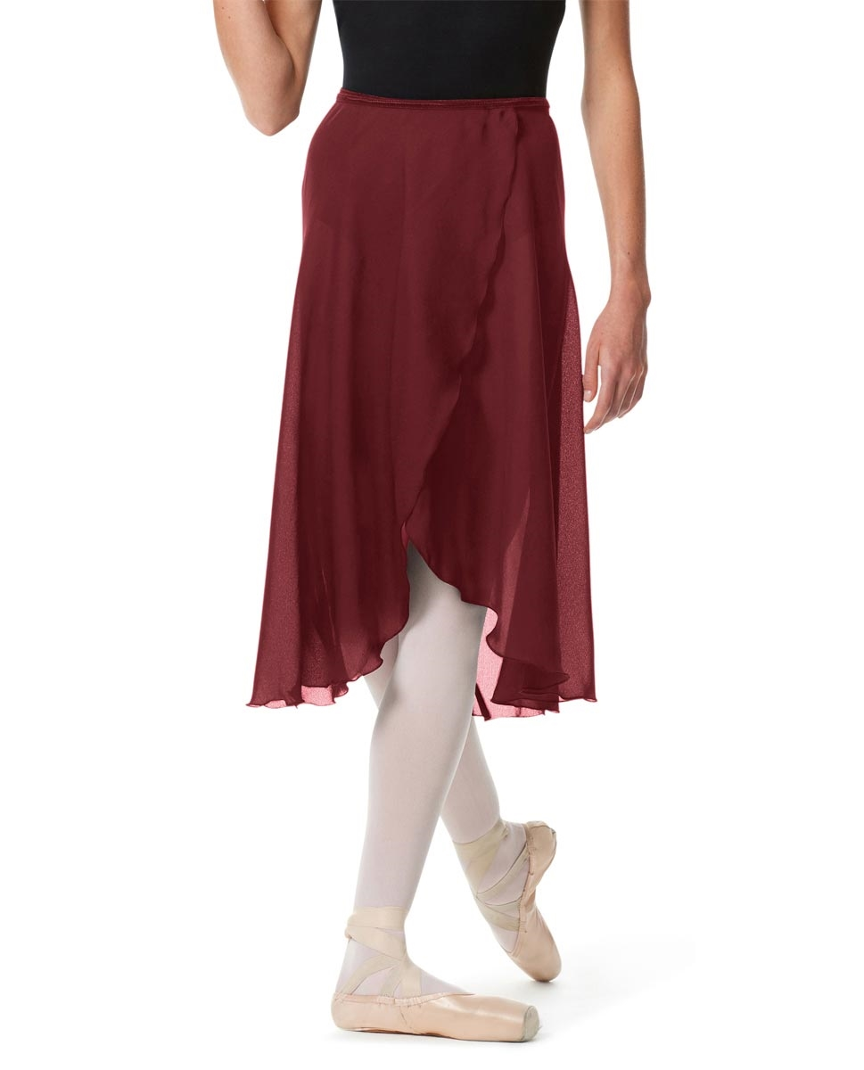 Knee Length Georgette Ballet Skirt Renee BURGUNDY