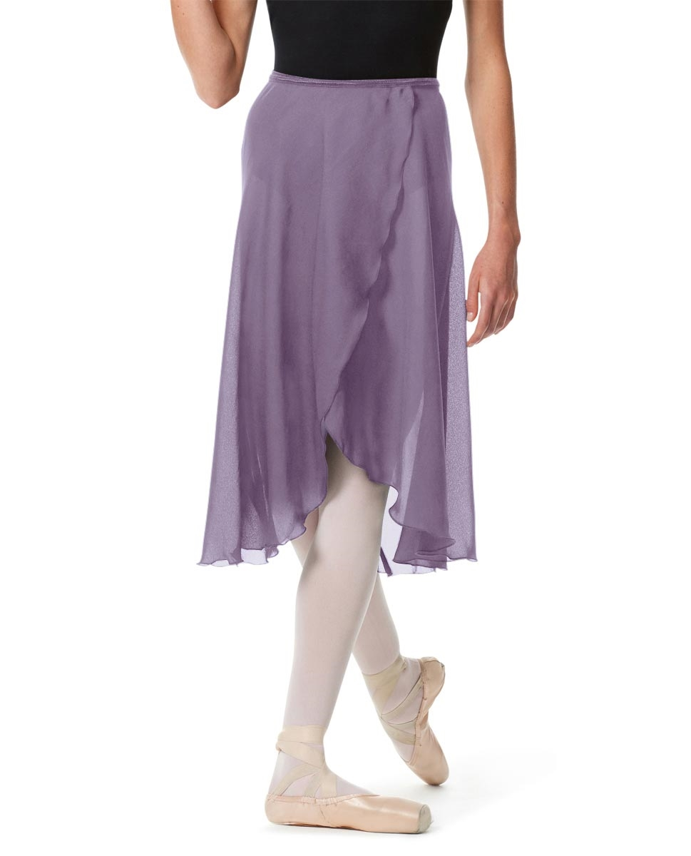 Knee Length Georgette Ballet Skirt Renee LAVENDER