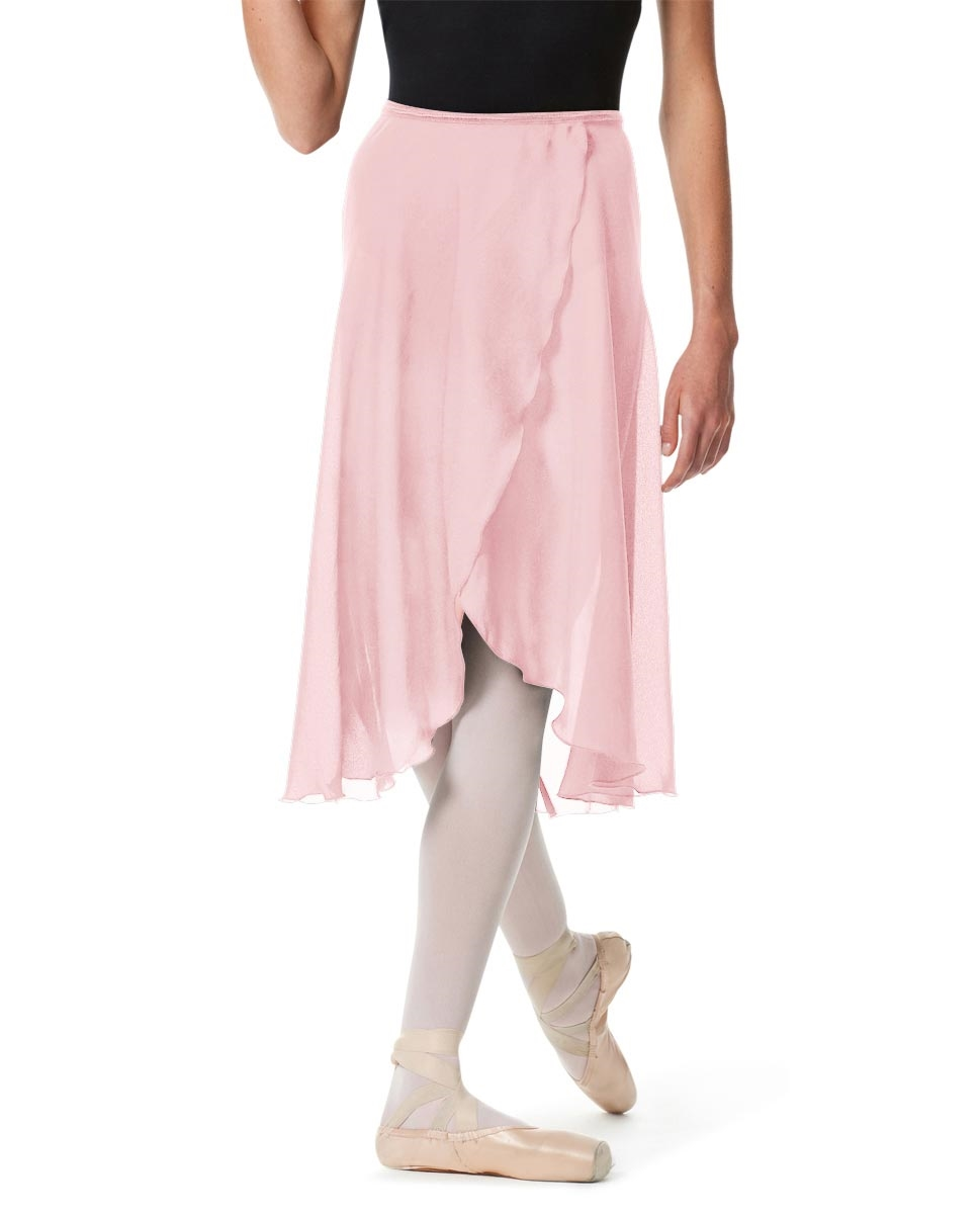 Knee Length Georgette Ballet Skirt Renee PINK