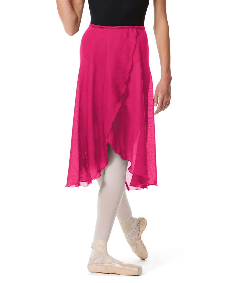 Knee Length Georgette Ballet Skirt Renee RASPBERRY