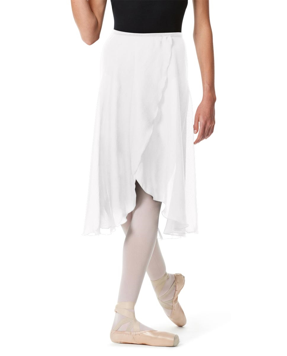 Knee Length Georgette Ballet Skirt Renee WHITE