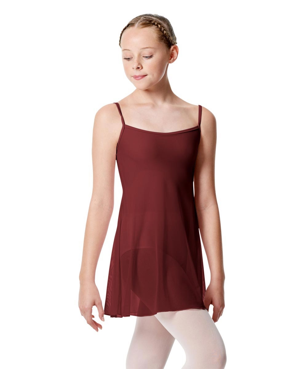Girls Camisole Dance Dress Danielle BURGUNDY