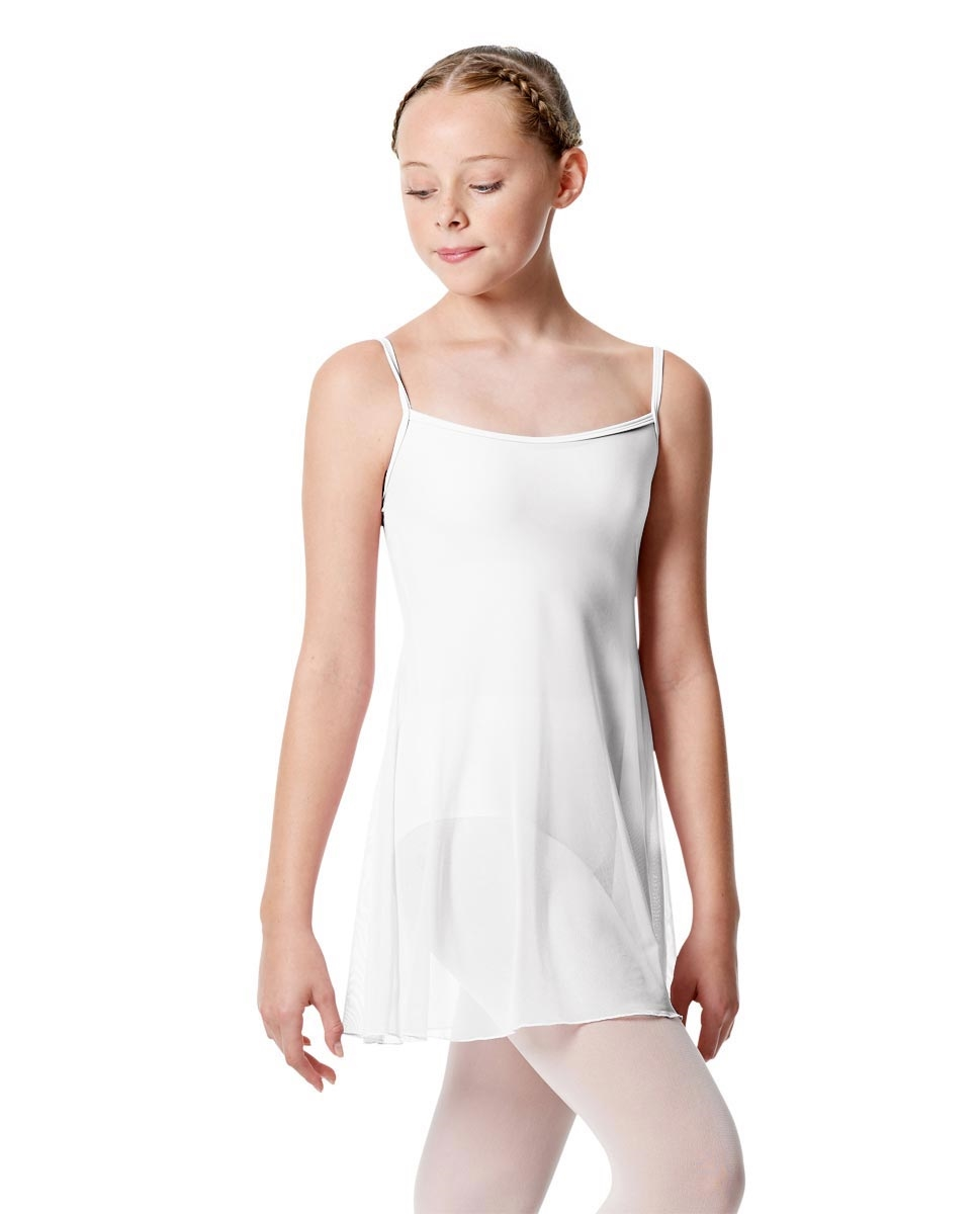 Girls Camisole Dance Dress Danielle WHITE