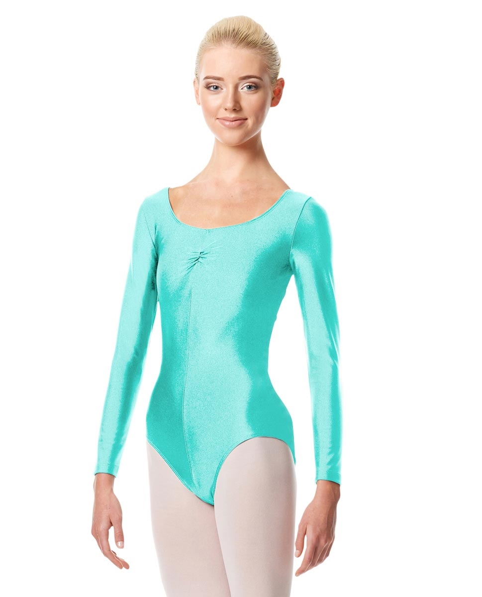 Long Sleeve Ballet Leotard Giselle AQUA BLUE
