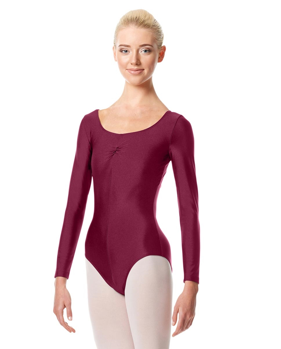 Long Sleeve Ballet Leotard Giselle BURGUNDY