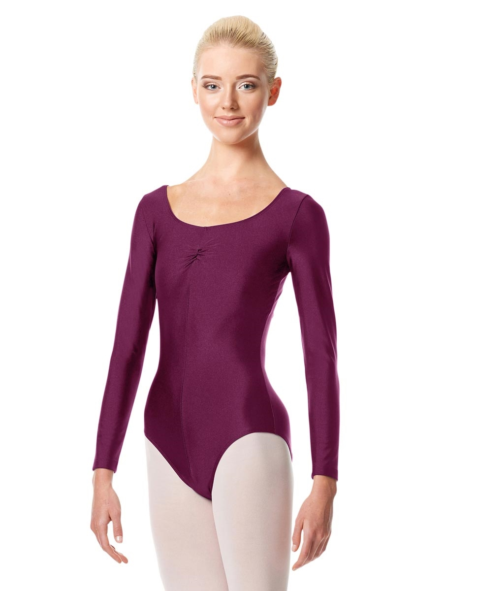 Long Sleeve Ballet Leotard Giselle EGGPLANT