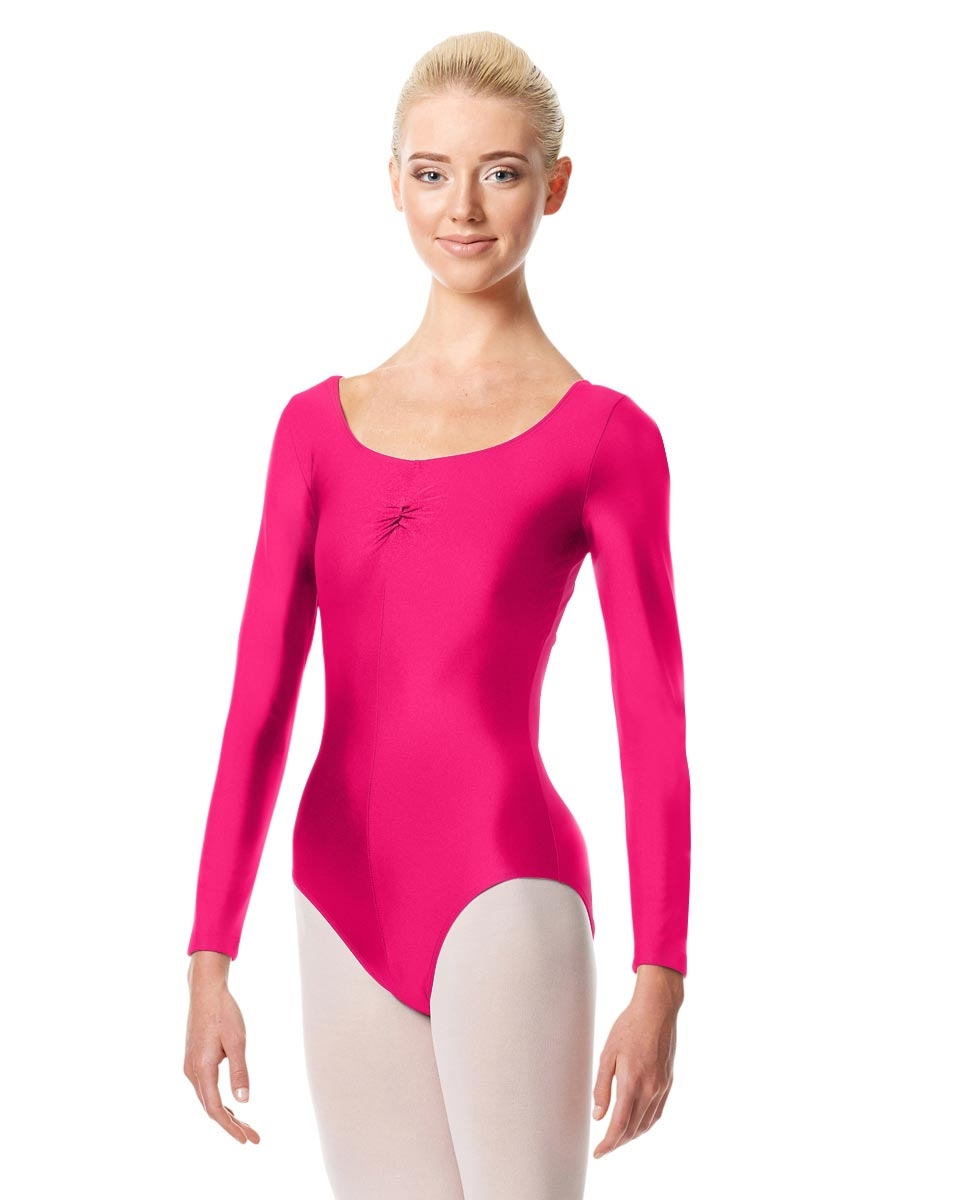 Long Sleeve Ballet Leotard Giselle RASPBERRY