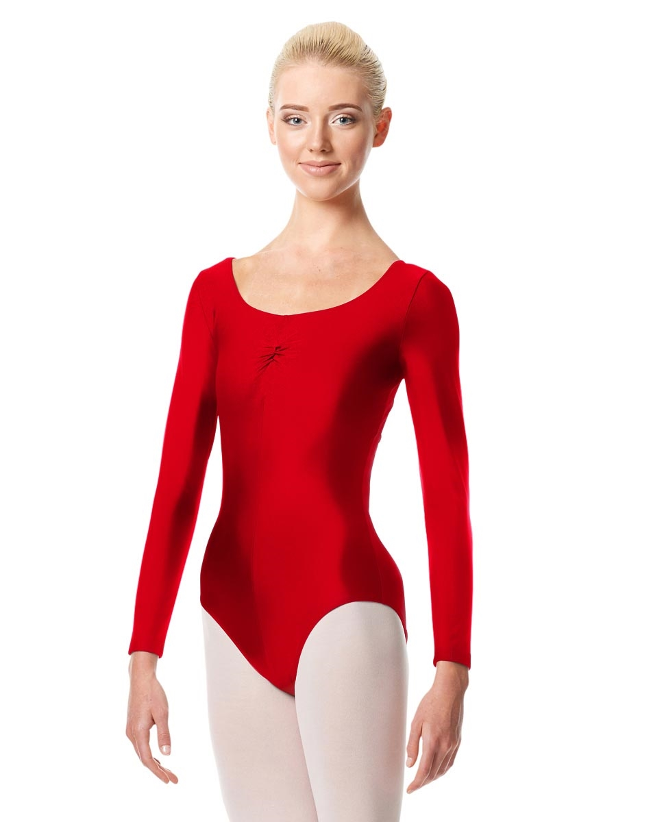 Long Sleeve Ballet Leotard Giselle RED
