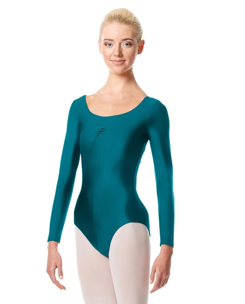Long Sleeve Ballet Leotard Giselle TEAL