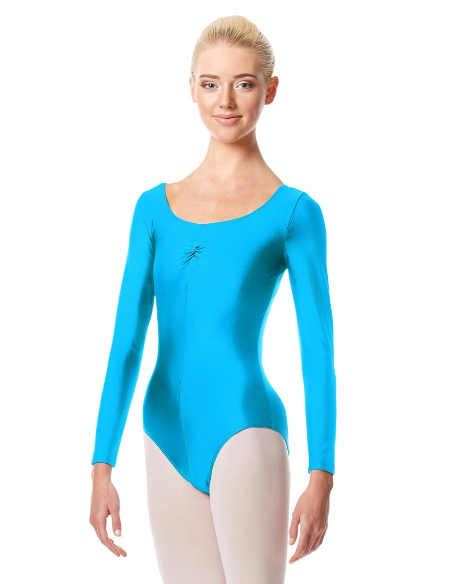 Long Sleeve Ballet Leotard Giselle TURQUOISE