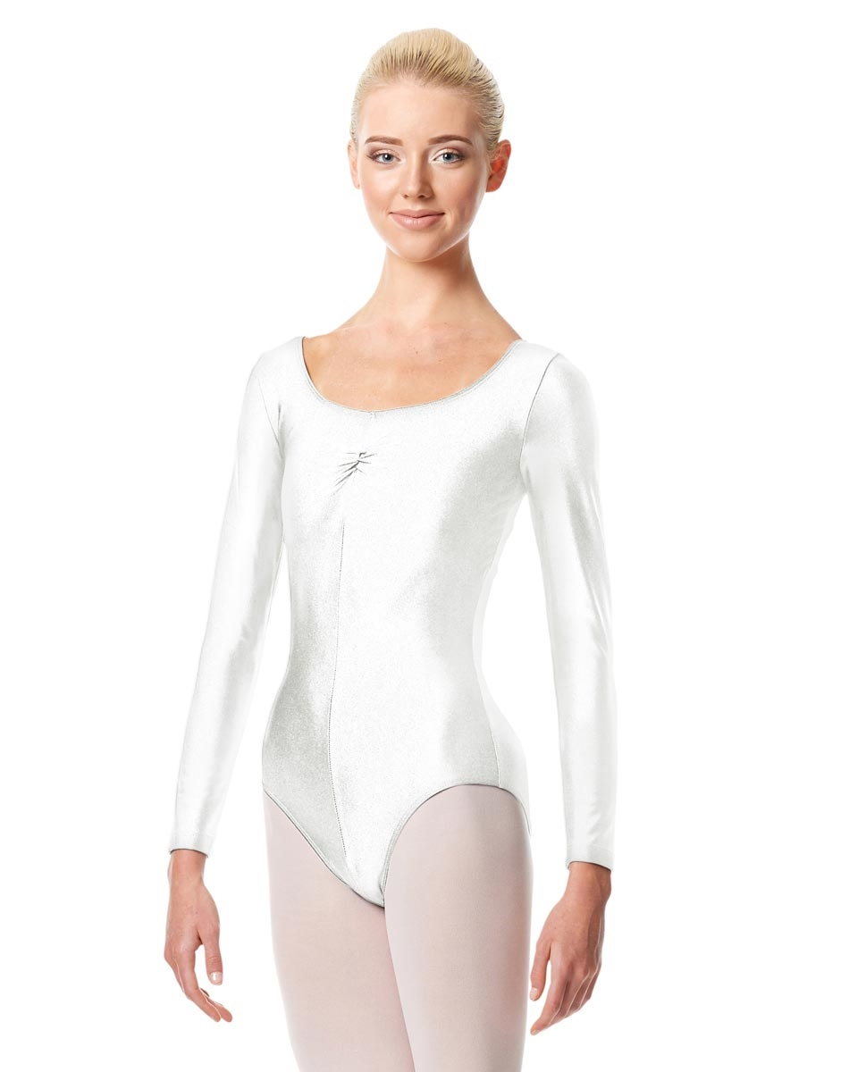 Long Sleeve Ballet Leotard Giselle WHITE