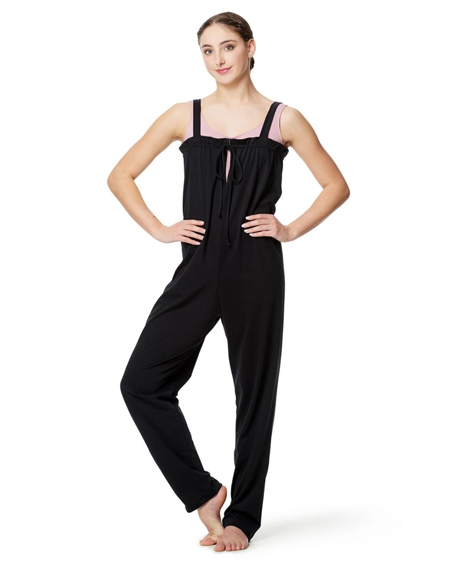 Women Loose Cotton Warm Up Unitard Paige