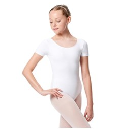 Girls Short Sleeve Leotard Tina