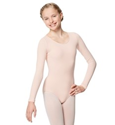 Girls Cotton Long Sleeve Ballet Leotard Avery