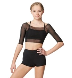 Girls Mesh Cropped Dance Top Isla